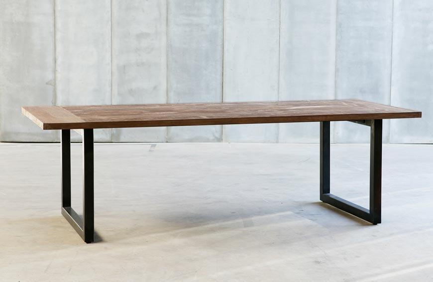 Heerenhuis manufactuur tables tube - Table bois massif contemporaine ...