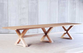 Tafel Table Cross oak Made to measure Bespoke